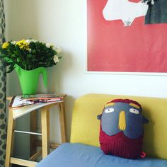 Eric Head - Cotton Pillow