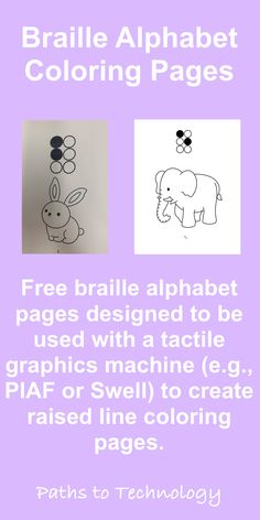 Raised line coloring pages for emerging braille readers! Alphabet Coloring Pages, Alphabet Worksheets, Coloring Worksheets, Braille Reader, Braille Alphabet, Learning Letters, Color Activities, Social Skills, Page Design
