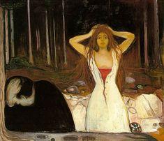 Ashes. 1894. Edvard Munch. Oil on canvas. 120.5 x 141 cm. Nasjonalgalleriet at Oslo.  http://artchive.com/