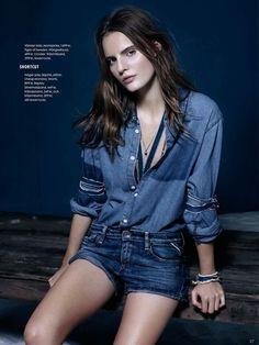 visual optimism; fashion editorials, shows, campaigns & more!: tilda lindstam by john scarisbrick for elle sweden jeans special april 2014