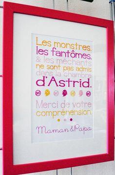 """Tableau """"Les Monstres"""" / 100% personnalisé / Idée Cadeau"""