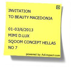 INVITATION TO BEAUTY MACEDONIA