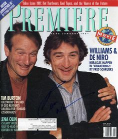 ROBIN WILLIAMS Hand Signed Premiere Magazine - Full PSA/DNA LOA - UACC #RD289 in Collectibles, Autographs, Movies | eBay