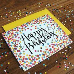 Geburtstagskarten selber gestalten kunterbunt