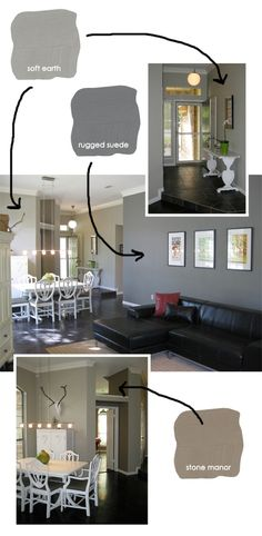 grey paint colors, Mix it up a bit through the first floor this is the look I…