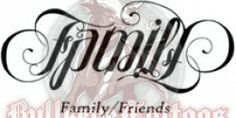 Family Friends Ambigram Design at BullseyeTattoos.com
