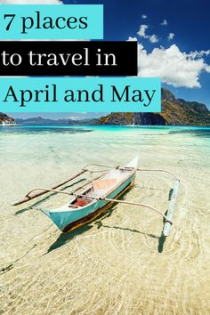 Find your perfect travel destination for April and May 7 Places, Cool Places To Visit, Great Places, Places To Travel, Travel Destinations, Tropical Paradise, May, Travel Guides, Perfect Place
