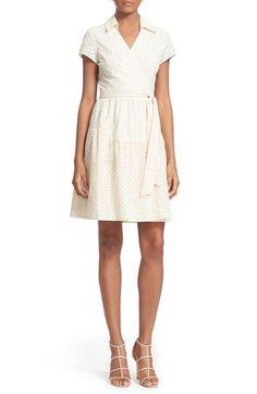Diane von Furstenberg 'Kaley Two' Cotton Eyelet Wrap Dress available at #Nordstrom