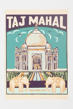 Urban Outfitters - Taj Mahal Art Print- want this so bad but they're out of stock!