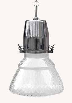 Rare postwar glass-body deep bowl reflector