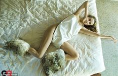 Diane Kruger rolls around in fur blanket in seductive photo shoot Faux Fur Rug, Faux Fur Blanket, Bunch Of Red Roses, Bed Wrap, Seductive Photos, Furry Boots, Green Lace Dresses, Christmas Bedroom, Diane Kruger
