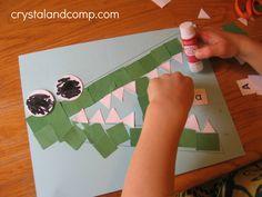A is for alligator preschool craft (9) - crystalandcomp