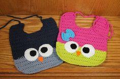 CROCHET PATTERN  Fancy TieBack Owl Bib by fancybirddesigns on Etsy