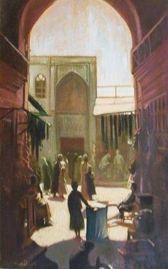 Hussain Alheidary - Bagdad markt 1920