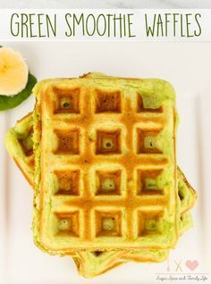Green Smoothie Waffl