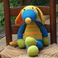 Hound Fritz by bonny's beasts on Etsy: Stuffed animal/stuffed toy/plushie/toy dog/amigurumi/birthday present/baby shower gift/crocheted animal/ plush toy