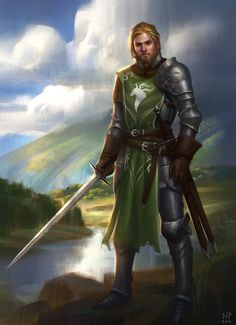 Maric by NathanParkArt | Digital Art / Drawings & Paintings / Fantasy | Character Concept Knight | Looks like Ewan McGregor.
