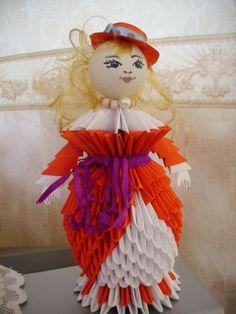 Gallery.ru / Дама в шляпке - Модульное оригами - valentina76