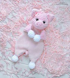 Easy Crochet Patterns, Amigurumi, Baby lovey toys by AVokhminaPatterns Crochet Toys Patterns, Amigurumi Patterns, Stuffed Toys Patterns, Pattern Baby, Baby Patterns, Crochet Lovey, Baby Security Blanket, Baby Lovey, Baby Comforter
