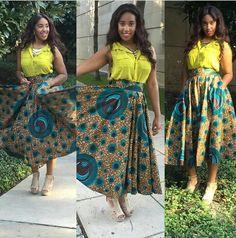 Stunning ankara skirt