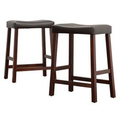 "Hahn 24"" Counter Stool - Cherry (set Of 2)"