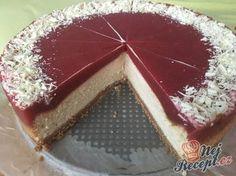 Cheesecake s bílou čokoládou a jahodovým želé   NejRecept.cz
