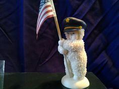 Snowbabies To Protect You Policeman Collectible Figurine Dept 56 w/box USA Flag | eBay