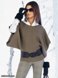 Brazil Knitting & Crochet - Handmade - Winter Outfits for Work Mode Outfits, Fall Outfits, Look Fashion, Womens Fashion, Fall Fashion, Mode Inspiration, Pulls, Casual Chic, Autumn Winter Fashion