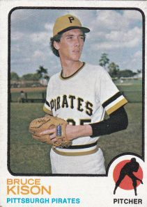 Bruce Eugene Kison (born February 18, 1950 in Pasco, Washington) a former Major League Baseball pitcher. He pitched from 1971-1985 for three different teams, the Pittsburgh Pirates, California Angels and Boston Red Sox. He batted and threw right-handed. During a 15-year career, Kison compiled 115 wins, 1,073 strikeouts, and a 3.66 ERA.   Kison also gave up the 2,500th hit to Pete Rose on August 17, 1975.