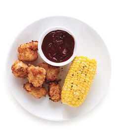 Crispy Popcorn Chicken - make your own chicken nuggets for an easy dinner for your kids