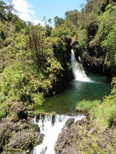 One of the many beautiful waterfalls on the Hana Highway. Beautiful Waterfalls, Maui Hawaii, Hana, In This Moment, Ankara Dress