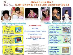 Origins Jamu Massage Baby & Toddler Contest 2014  Every Child is a Super Star. The search is ON! Who wants to be the star of OJM Baby & Toddler Contest 2014? Send in your child best photo to win attractive prizes!