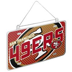 Image of San Francisco 49ers Official NFL Metal License Plate Christmas Ornament 236462