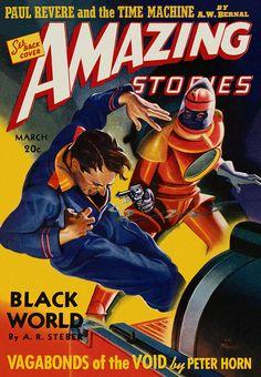 vintage sci-fi magazines | 20 Vintage Scifi Magazine Covers : Pulp Fiction