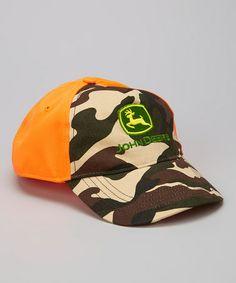 Look what I found on #zulily! Orange Camo Baseball Cap #zulilyfinds