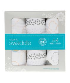 Up in the Air Organic Cotton Swaddling Blanket - Set of Three