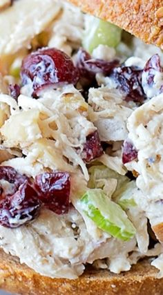 Cranberry Pecan Chicken Salad ~ Sweet cranberries, toasted pecans, Dijon mustard and Greek yogurt are the secret ingredients that make this chicken salad a fall favorite! salad Cranberry Pecan Chicken Salad - Life Made Simple Pecan Chicken Salads, Chicken Salad Recipes, Salad Chicken, Recipe Chicken, Cranberry Almond Chicken Salad, Chicken Salad With Grapes, Diced Chicken, Harvest Chicken Salad Recipe, Healthy Recipes