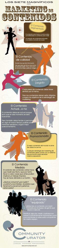 Los siete magníficos del Marketing de Contenidos. #Infografía en español