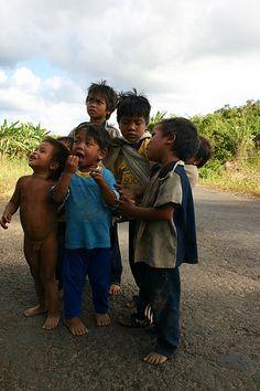 Local children near Daklak,Vietnam