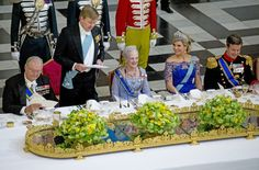 King Willem-Alexander delivered a kind and personal speech to his godmother Queen Margrethe at the State Banquet on 17 March 2015