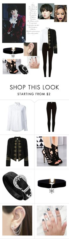 """""""BTS blood sweat and tears inspired outfits"""" by seraphina0725 ❤ liked on Polyvore featuring Misha Nonoo, River Island, Yves Saint Laurent and Otis Jaxon"""