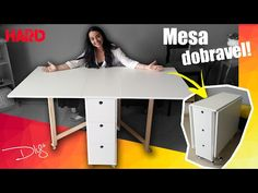 Sewing table diy portable 57 new Ideas Folding Furniture, Space Saving Furniture, Home Decor Furniture, Diy Home Decor, Folding Desk, Coin Couture, Diy Sewing Table, Wooden Projects, Room Accessories