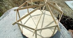 I carefuly crafted this scaled model to give me the sense, angles and proportion of a reciprocal roof. I really could not resist to study t...
