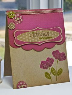 Birthday wishes card by Lisa Johnson for Papertrey Ink (September 2011).