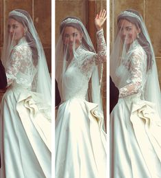 ♕ Her Royal Highness waving to the crowds on her wedding day to Prince William…