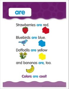 Are: Sight Word Poem and Word Cards by Scholastic Sight Word Sentences, Sight Word Worksheets, Sight Words, Reading Worksheets, Reading Activities, Kindergarten Poems, Kindergarten Language Arts, Sight Word Practice, Sight Word Games