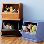 Organizing kids is all about making kids stuff easily accessible. Here's a good example of some durable kids storage bins for toys and books. Read this 'Kids Room Organization' article to learn why its an important element in a kids bedroom makeover. For further tips and ideas for organizing kids visit http://getkidsorganized.net