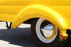 Our vintage trailer in all its glitz+glam// BANANASBYHANNAH.COM #Hannahsbananas #bananasbyhannah #frozenbananas #catering #events #parties #festivals #weddings #dessert #orangecounty #oc #california #socal #banana #glutenfree #yum #chocolate #vintagetrailer #trailer #restoration #1976 #yellow Frozen Banana Dessert, Dessert Catering, Catering Events, Banana Beach, Beach Cafe, Glitz And Glam, Restoration, Chocolate, Glutenfree