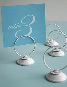 Cherish Paperie Blog: Table Number Holders {DIY Ideas}