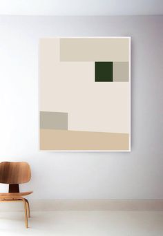 Mid Century Modern Print. Abstract Geometric Print. Neutral Art Print. Tan Print Mid Century Print. Geometric Wall Art. Beige Abstract Print  Purchase the Whole Printed 3 Print Set at the following link: